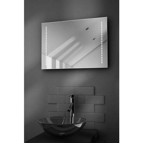 Beatrix Battery LED Bathroom Illuminated Mirror With Pull Cord k3