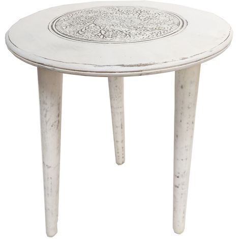 Beautiful Round Or Square Hand Carved Indian Wooden Coffee Table Side Table