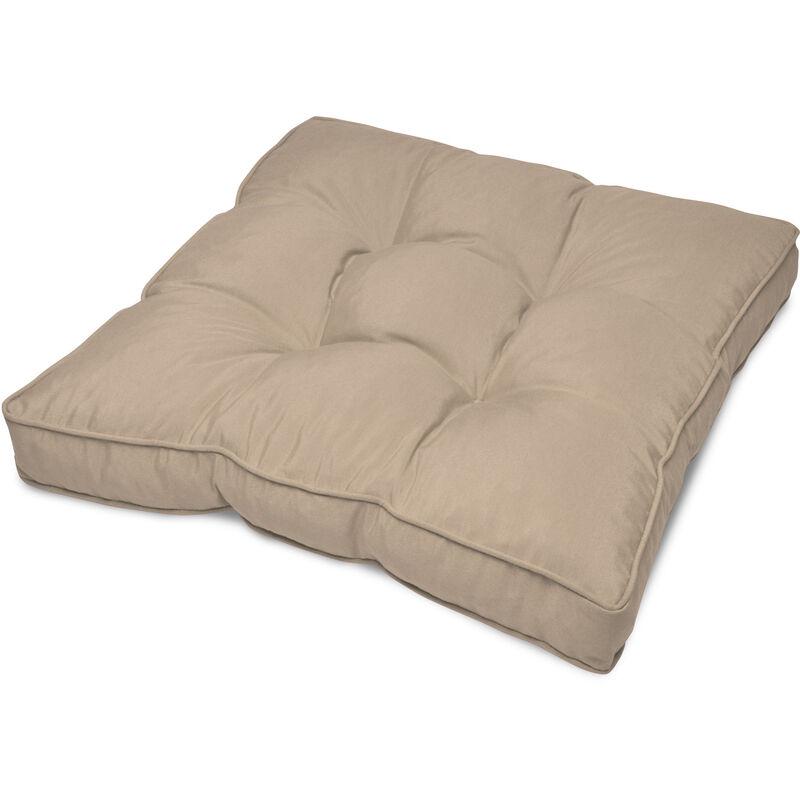 Coussin lounge - Pour Assise - Pour extérieur Nature, 10cm, 50cm, 50cm - Beautissu
