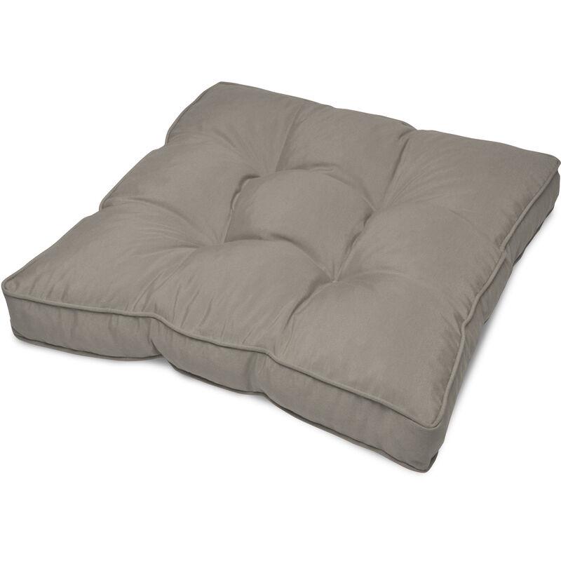 Beautissu Coussin lounge - Pour Assise - Pour extérieurGris clair, 10cm, 60cm, 60cm