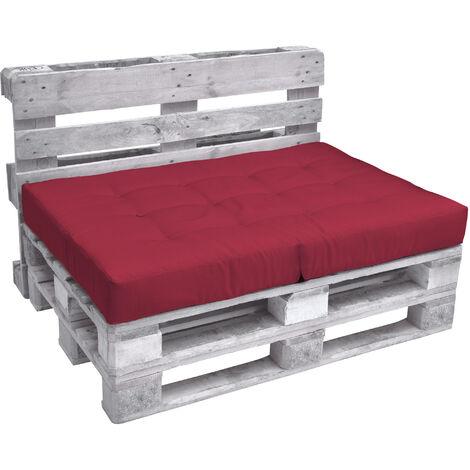 Beautissu eco elements assise banquette coussins pour canape euro palette rouge 120x80x15 cm - Coussins pour canapes ...