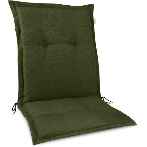 Beautissu HighLux NL Coussin dossier bas Coussin exterieur jardin 105x50cm - Épaisseur 7cm – Fait en UE – Coussin dossier chaise pour mobilier de jardin – Résistance UV Gris clair