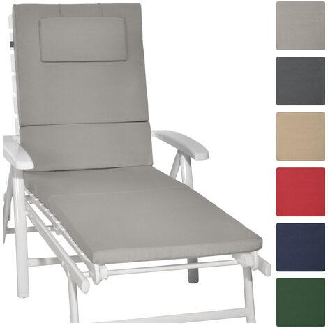 beautissu loft rl coussin pour chaise longue gris clair. Black Bedroom Furniture Sets. Home Design Ideas