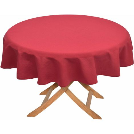 Beautissu Loftflair Nappe de jardin ronde Rouge - 65095071