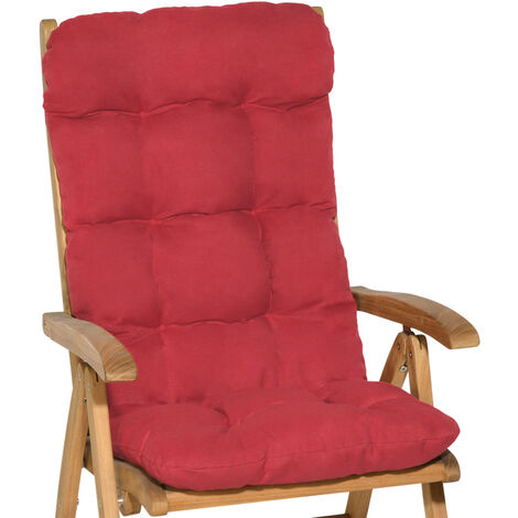 Beautissu Lot de 2 Matelas Coussin pour chaise fauteuil de jardin