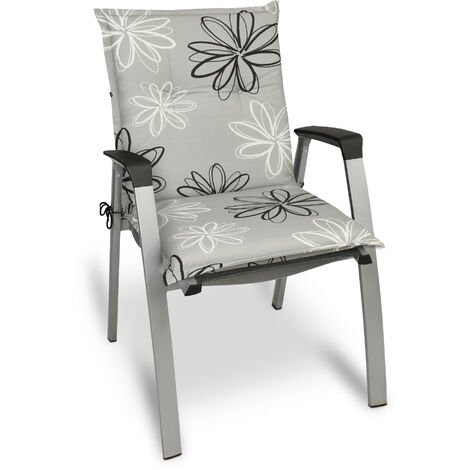 Beautissu Matelas Coussin pour Chaise Fauteuil de Jardin terrasse Floral 100x50x6cm