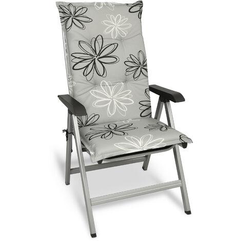 Beautissu Matelas Coussin pour Chaise Fauteuil de Jardin terrasse Floral 120x50x6cm