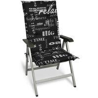 Chaise longue//plage chaise Madison Bois//Textile Victoria Jaune Rayé