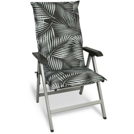 Beautissu Matelas Coussin pour Chaise Fauteuil de Jardin terrasse Tropic 120x50x6cm