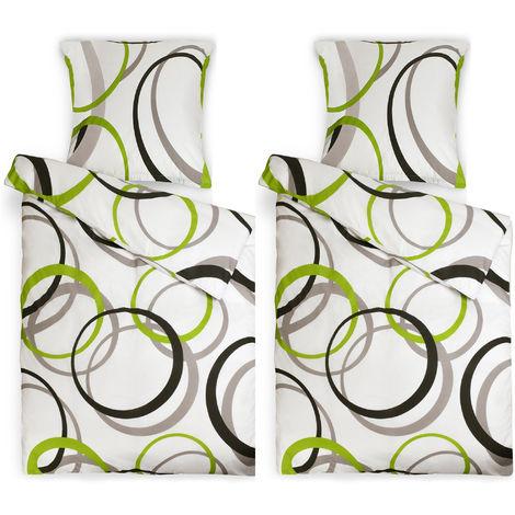 Beautissu Set de 2 Juegos de Ropa de Cama Nina – 2 Juegos de sábanas 135x200 cm y 2 Fundas de Almohada 80x80 cm - Fundas de edredón nórdico con Cremallera - 100% algodón