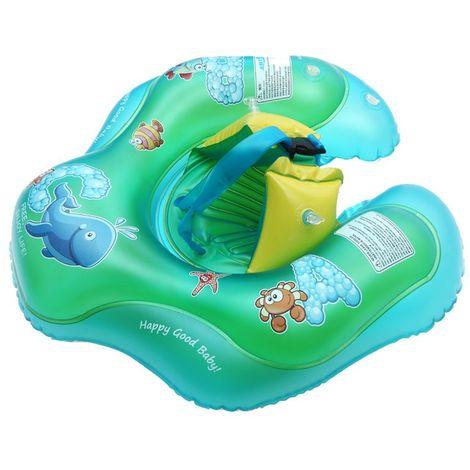 Bébé nager flotteur bateau radeau anneau de natation nager piscine de sécurité jouet gonflable cadeau de Noël Sasicare