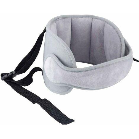 Bébé Support de Tête de Voiture Tête d'oreiller de sécurité bébé Réglable, Tête Fixation Holder Pour Enfants, Protéger Cou (gris)