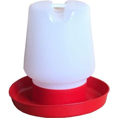 Bebedero de Plástico para Aves de Corral, Gallinas y Otros Pájaros - 1 L