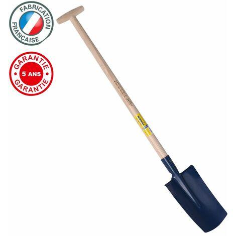Bêche standard de 28 cm manche béquille tournée, outil à main pour le jardin et le potager