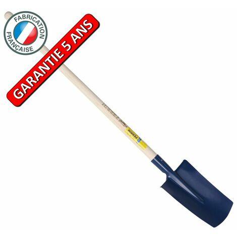 Bêche standard de 28 cm manche pomme 1,05 m, outil à main pour le jardin et le potager
