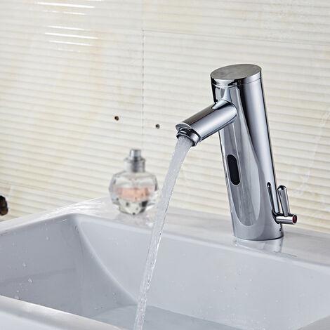 Becken Wasserhahn, automatischer Sensor, Kupfer, hei?e und kalte Mischung