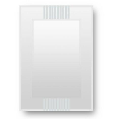 Beckett Rectangular Designer Mirror with Glass Frame 500mm x 700mm