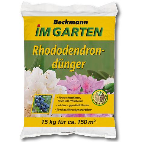 BECKMANN engrais pour rhododendrons 15 kg engrais pour hortensias, engrais pour plantes de terre de bruyère