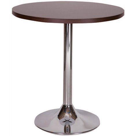 "main image of ""Becks Large White Round Table Chrome 100Cm Or 120Cm"""