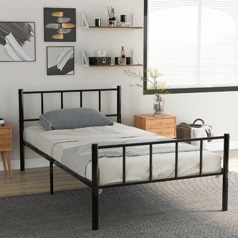Bed Frame 3ft Metal Black