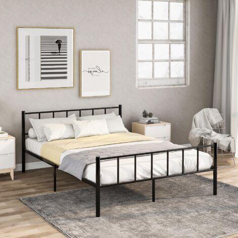 Bed Frame 4ft6 Metal Black