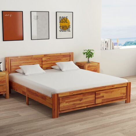 Bed Frame Solid Acacia Wood 160x200 cm