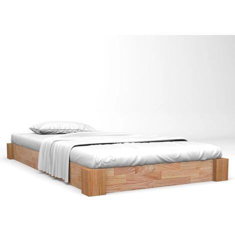 Bed Frame Solid Oak Wood 160x200 cm
