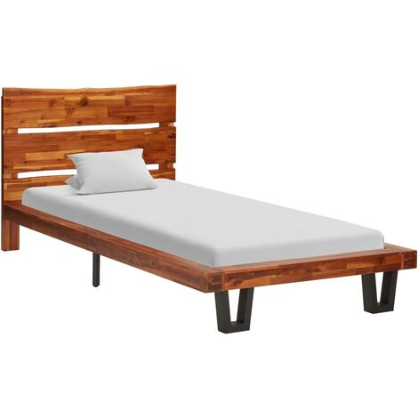Bed Frame with Live Edge Solid Acacia Wood 90 cm