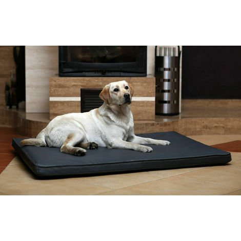 Bed orthopedic mattress in eco-leather for dogs cat GREY