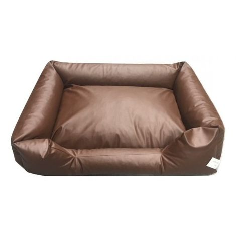 bed pillow for dogs orthopedic dog OutdoorDog Cat Basket Dog Sofa Leather Brown 100 x 80 cm
