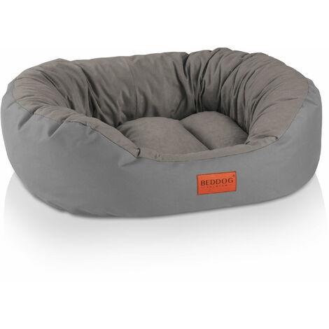 BedDog® 2 en 1 colchón para perro BONA L hasta XXXL, 6 colores, cama para perro, sofá para perro, cesta para perro:XXL (ca. 110x90cm), ROCK-FLOW (antracita/gris) - ROCK-FLOW (antracita/gris)