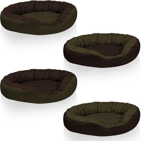BedDog® 4en1 colchón para perro SUNNY XL hasta XXXL, 13 colores, cama, sofá, cesta para perro:XL (ca. 85x70cm), BLACK (negro) - BLACK (negro)