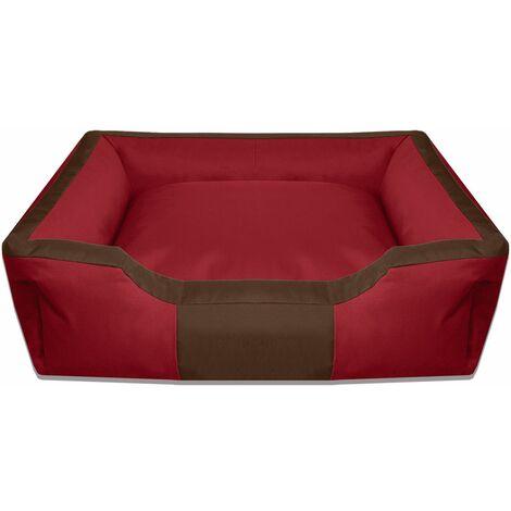 BedDog® colchón para perro BRUNO XL hasta XXXL, 15 colores, cama para perro, sofá para perro, cesta para perro:XL (ca. 100x85cm), MELANGE (marrón/beige)