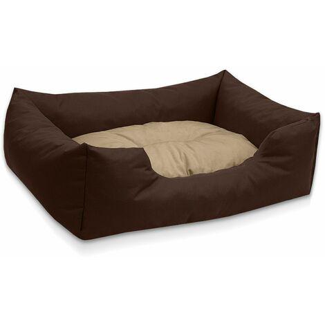 BedDog® colchón para perro MIMI S hasta XXXL, 26 colores, cama, sofá, cesta para perro:S (ca. 55x40cm), CHOCOLATE (marrón) - CHOCOLATE (marrón)