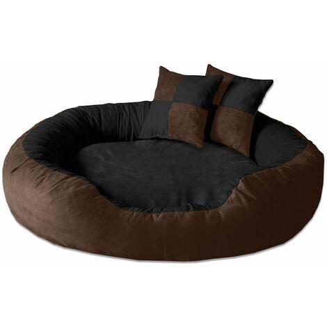 BedDog® colchón para perro PRINS XL hasta XXL, 12 colores, cama, sofá, cesta para perro:XXL (ca. 120x95cm), MELANGE-QUATTRO (beige/marron) - MELANGE-QUATTRO (beige/marron)
