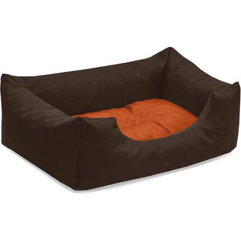 BedDog® Hundebett MIMI, Hundesofa aus Cordura, Microfaser-Velours, waschbares Hundebett vier-eckig mit Rand, Hundekissen