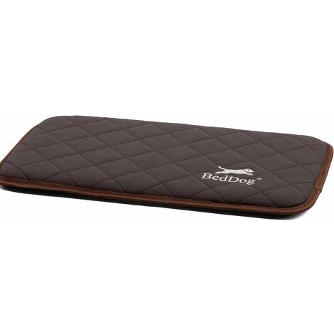 BedDog® NELLY, grand tapis en similicuir pour chien, lit pour chien, oreiller pour animal, canapé pour chien, 8 couleurs au choix, taille S-XXL:BLACK (noir), L (env. 90x60cm)