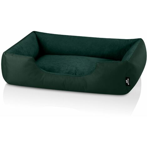 BedDog® ZARA colchón para perro S hasta XXXL, 24 colores, cama para perro, sofá para perro, cesta para perro:XL (ca. 100x85cm), BOTTLE-GREEN (verde oscuro)