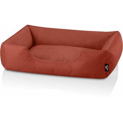 BedDog® ZARA colchón para perro S hasta XXXL, 24 colores, cama para perro, sofá para perro, cesta para perro:XL (ca. 100x85cm), HAZELNUT (ladrillo) - HAZELNUT (ladrillo)