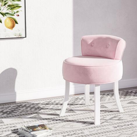 "main image of ""Bedroom Dressing Table Stool Makeup Stool Chair Wood Legs"""