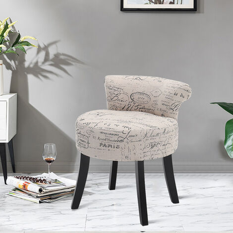 Bedroom Dressing Table Stool Vanity Padded Makeup Chair Low Back Piano Seat