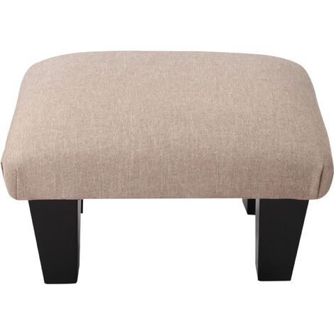 Bedroom Lounge Ottoman Pouffe Fabric Bench Foot Stool Seat Chair Rest Footstool Beige