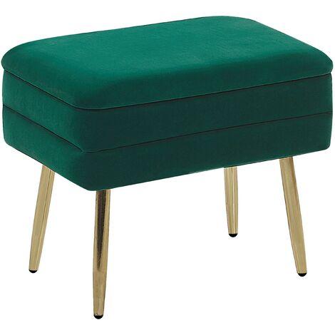 Bedroom Storage Bench Dark Green ODESSA