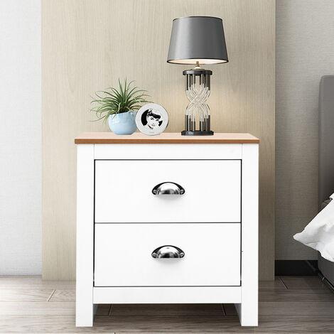 Bedroom Storage Cabinet 2 Drawer Bedside Table Unit