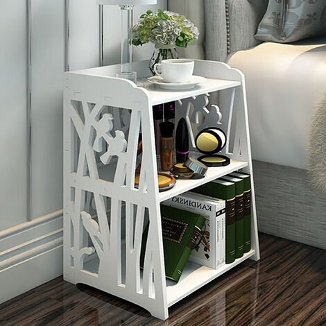 """main image of """"Bedroom White Bedside Table Nightstand"""""""