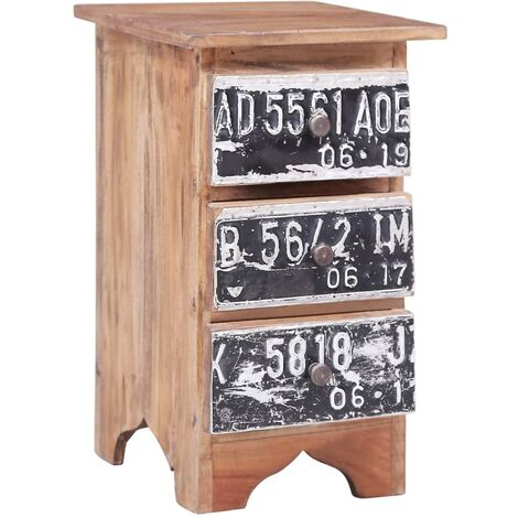 Bedside Cabinet 30x30x51 cm Solid Reclaimed Wood