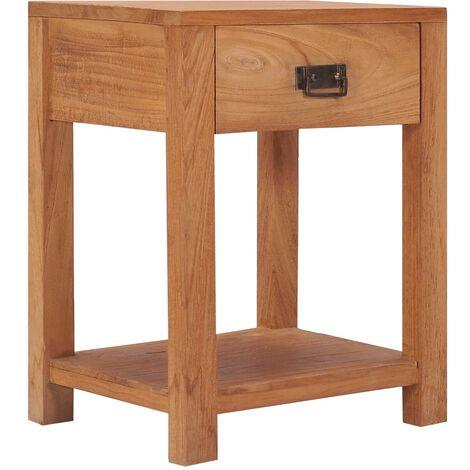 bedside Cabinet 35x35x50 cm Solid Teak Wood