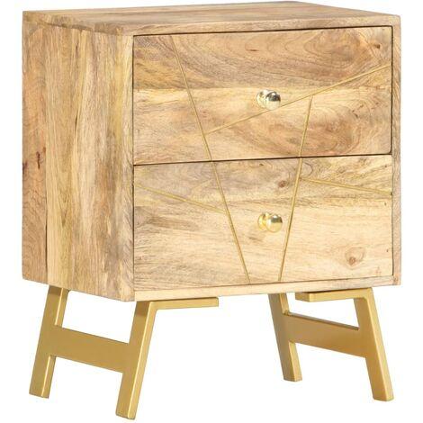 Bedside Cabinet 40x30x50 cm Solid Mango Wood