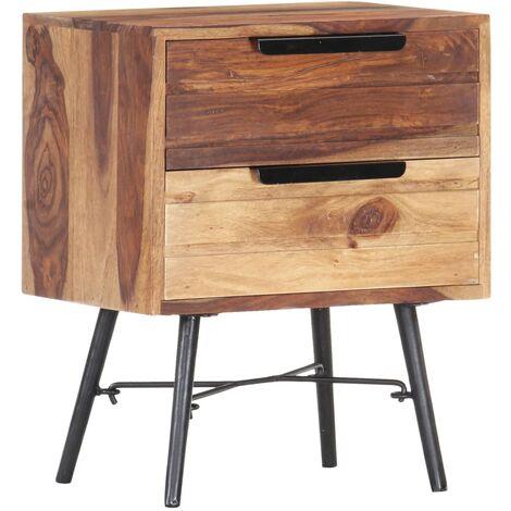 Bedside Cabinet 40x30x50 cm Solid Sheesham Wood