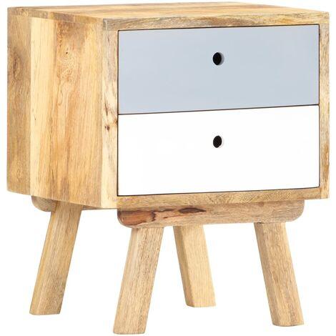 Bedside Cabinet 40x35x50 cm Solid Mango Wood